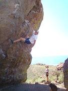 Rock Climbing Photo: Joe on route