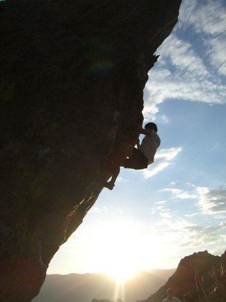 Rock Climbing Photo: Headin Out