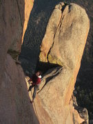 Rock Climbing Photo: Climber from another Boulder climbing party on the...
