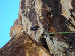 Rock Climbing Photo: Bill on the wrong second pitch!!!