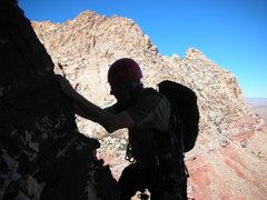 Rock Climbing Photo: Bill starting the second pitch