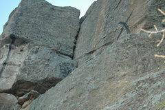 Rock Climbing Photo: Graffiti on morning sun wall