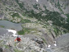 Rock Climbing Photo: Me at the top of P1.