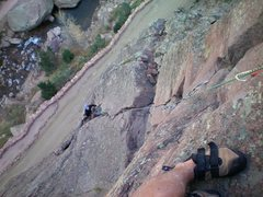 Rock Climbing Photo: Third pitch. John M.
