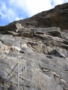 Rock Climbing Photo: At the last bolt. Pretty much shows the entire rou...