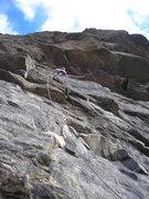 Rock Climbing Photo: About halfway....