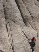 Rock Climbing Photo: Leapin Leana 5.7+ - Joshua Tree National Park