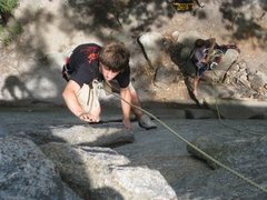 Rock Climbing Photo: Zipper. Difficult to tell what the belayer is doin...