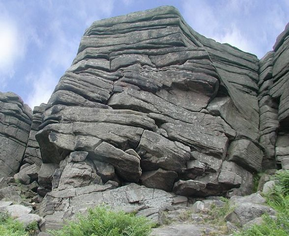Martello Buttress follows the central/left hand flake system towards the left arete