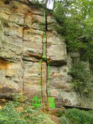 Rock Climbing Photo: # 1 = The Captain  5.11-         FA: Justin Dall'O...