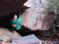 Rock Climbing Photo: Me Climbing Shadows... Self portrait, haha...