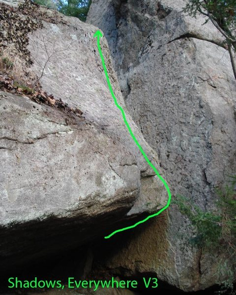 Rock Climbing Photo: The Line of Shadows,Everywhere...