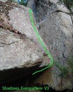 Rock Climbing Photo: The Line of Shadows,Everywhere...