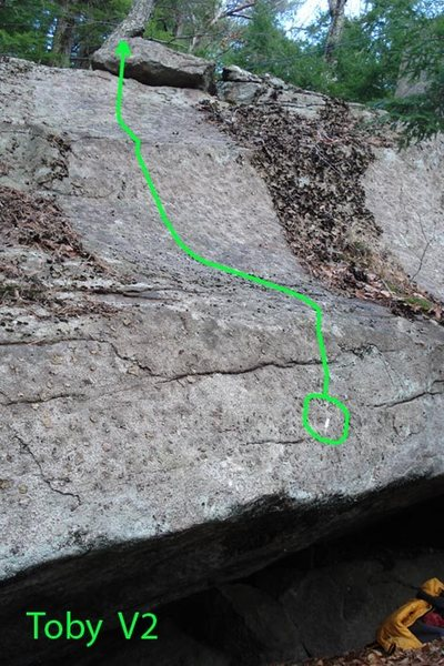 The line of Toby... Can't really see the starting hold so i circled it and ticked it for you...