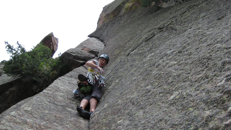 Rock Climbing Photo:  Leading in Eldo