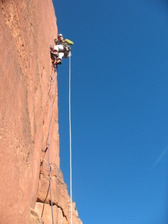 Rock Climbing Photo: My first aid lead in 20 years, pitch 6 off the biv...