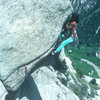 Merrill Bitter on a successful ascent, early 1980's