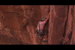 Rock Climbing Photo: Joel finishing upper pitch (2nd Ascent)