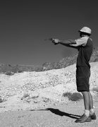 Rock Climbing Photo: Jonny Six-Shooter doing his thing as I head out in...