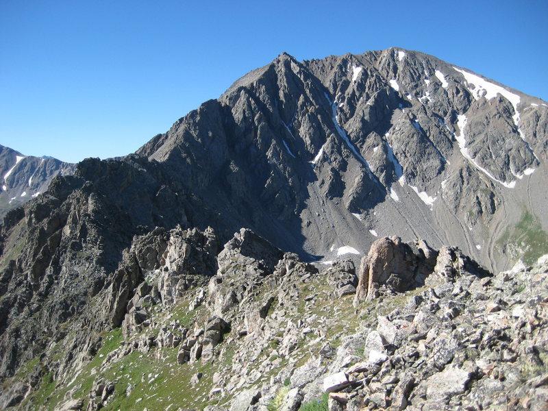 Rock Climbing Photo: La Plata from the beginning of Ellingwood Ridge.