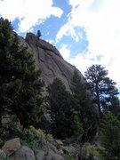 Rock Climbing Photo: Douglas in the middle of the photo...middle of the...