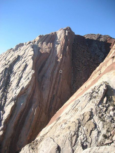 Scott Carson on the crux pitch of Day of Atonement.. View full size.. photo Paul Ross