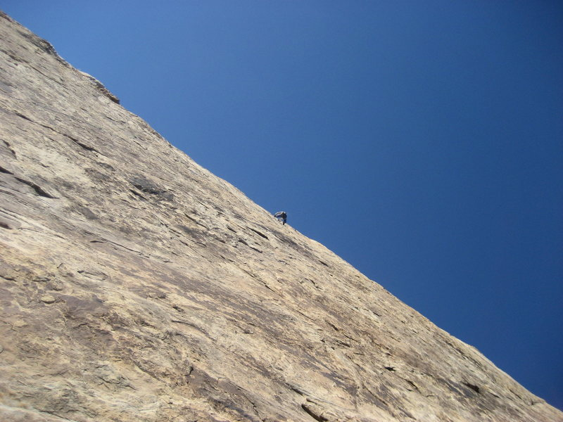Andy Ross on first pitch ..second ascent