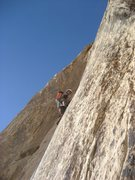 Rock Climbing Photo: The slab of Pitch 3