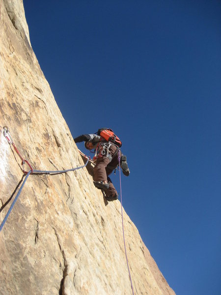 The crux moves of the last pitch
