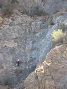 "Rock Climbing Photo: Magali Delmas climbing ""Footprints"", 11/..."