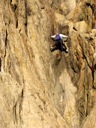 Rock Climbing Photo: Paul Ross on the first pitch of Goliath's Groove, ...