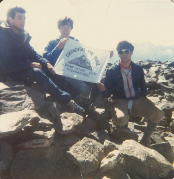 A few wasted boys from Ohio on the summit circa 1980.