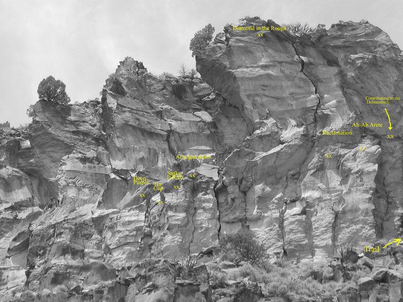 Rock Climbing Photo: Right/Upstream Miner's Wall
