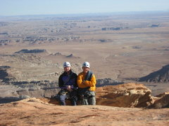 Rock Climbing Photo: IME lads Andy and Scot on the Summit