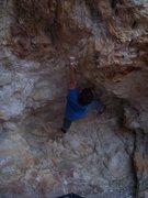 Rock Climbing Photo: An unfinished high ball boulder problem at owl roc...