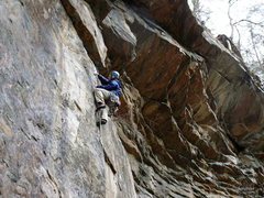 Rock Climbing Photo: Near the top, where the hands get tight, High Time...