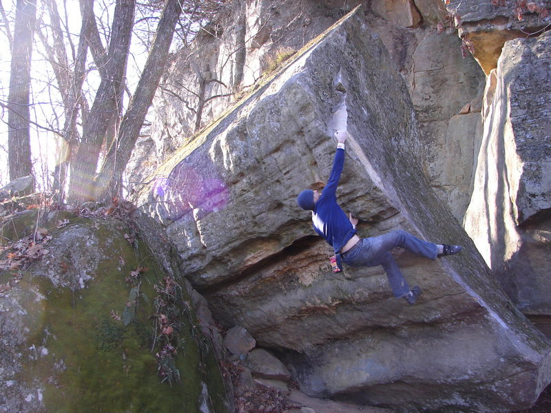 Rock Climbing Photo: Nick Rhoads on the send.