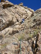 Rock Climbing Photo: This is where the route moves left onto the final ...