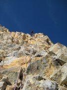 Rock Climbing Photo: Black Spider Rap, Mt. Hood