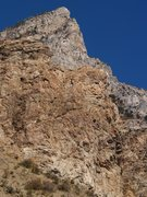 Rock Climbing Photo: Where's Waldo? (Perin) Cleaning and bolting Brain ...