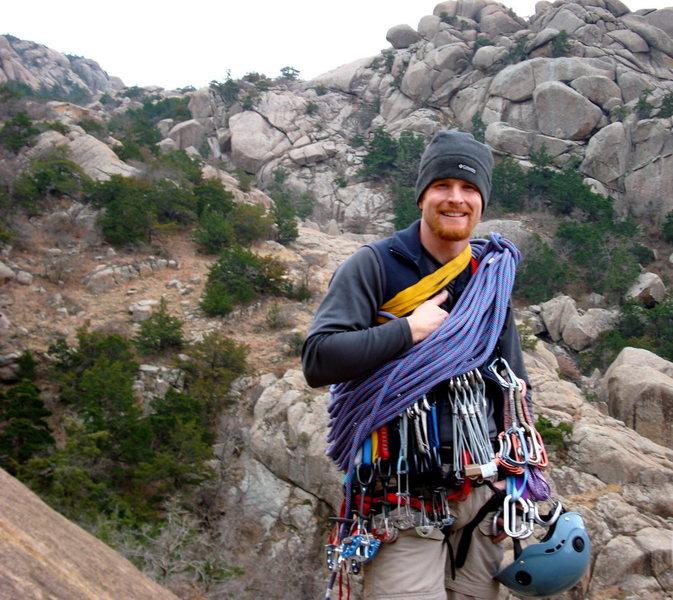 Rock Climbing Photo: Preparing for Multi-pitch