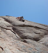 Rock Climbing Photo: Crux on Frosted Flakes 5.9+