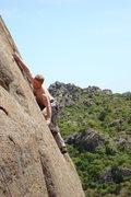 Rock Climbing Photo: Working the Worm Hole...5.8
