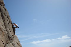 Rock Climbing Photo: Thin Area on Worm Hole