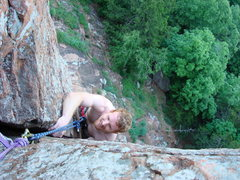 Rock Climbing Photo: Mr. Clean, Lower Mount Scott Area. Upper Crux