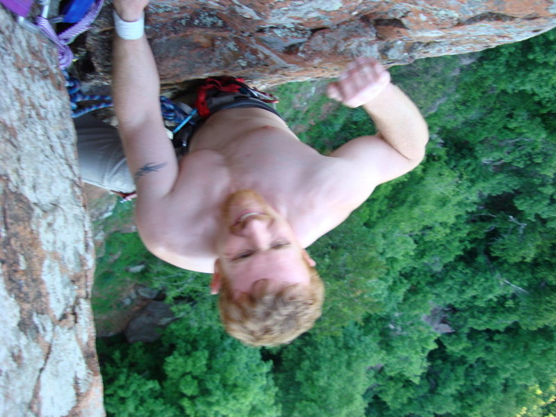 Rock Climbing Photo: Mr Clean Top Out.