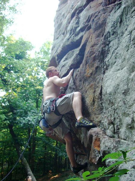 Rock Climbing Photo: Random 5.9 at HCR