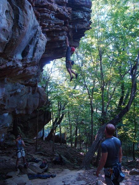 Rock Climbing Photo: My clan working on Love Slave 5.12