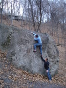 Rock Climbing Photo: That right foot is not on.