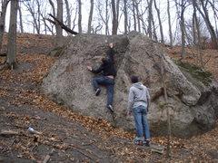 Rock Climbing Photo: Massive reach.